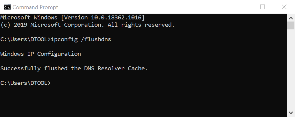 Xóa cache bằng Window Command Prompt